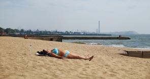 beach, industrial